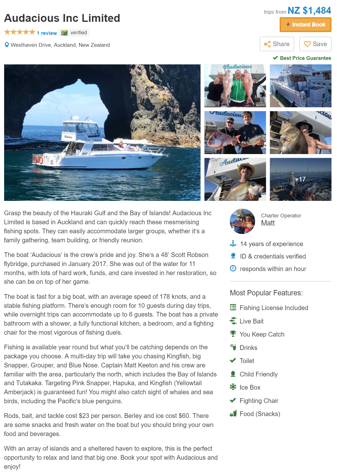 Fishing Charter Booking Form